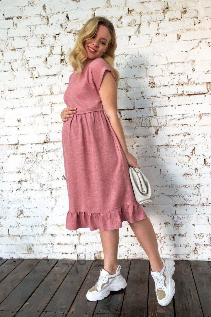 Платье для беременных 2037 1331 пудра