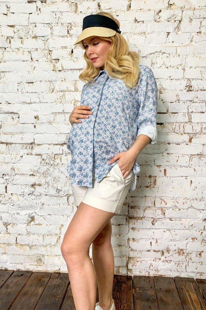 Сорочка для вагітних 2038 1326 блакитна