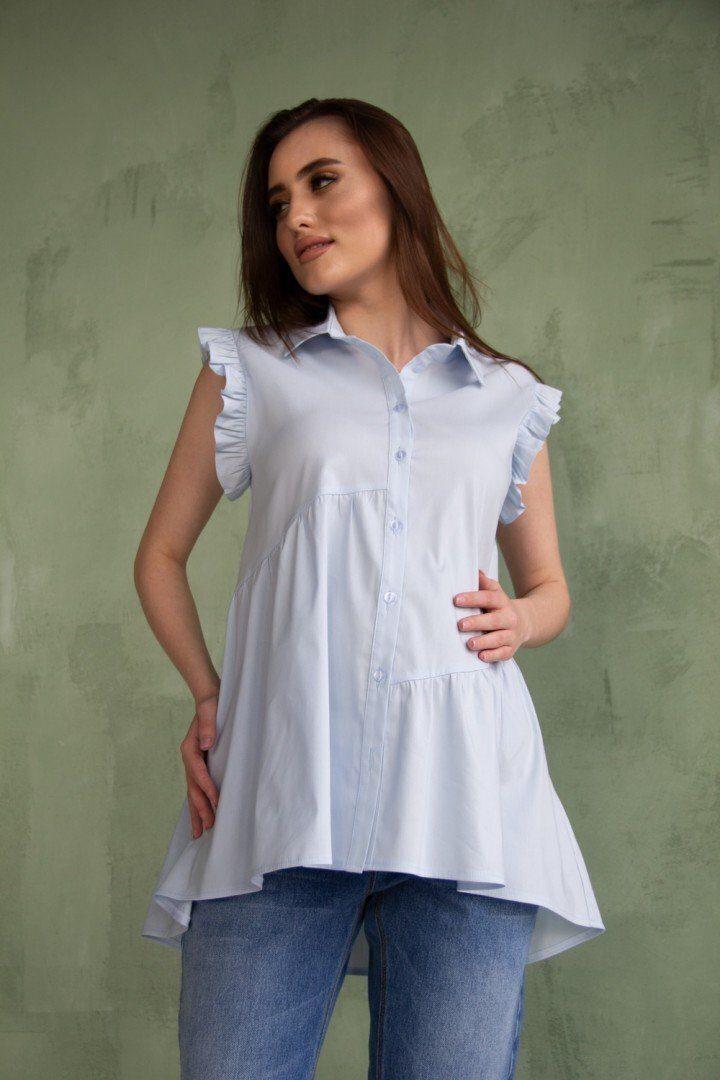 Рубашка для беременных 2043 0000 голубая