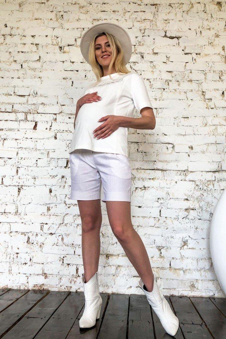 Шорты для беременных 2057 1349 белые