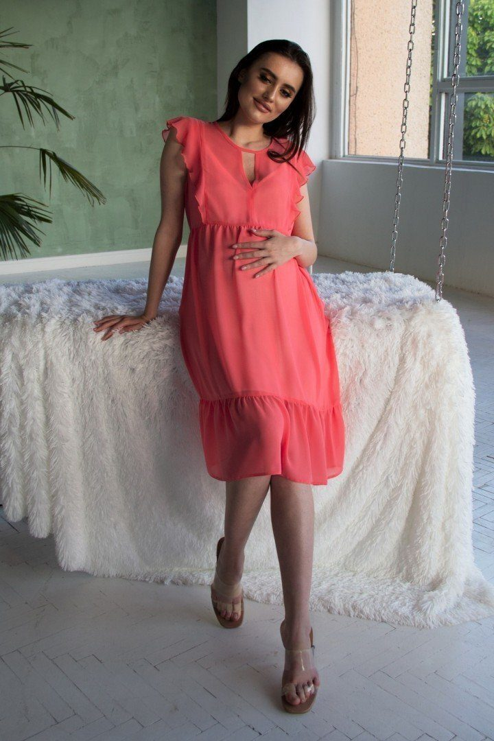 Платье для беременных 2062 0000 кораловый