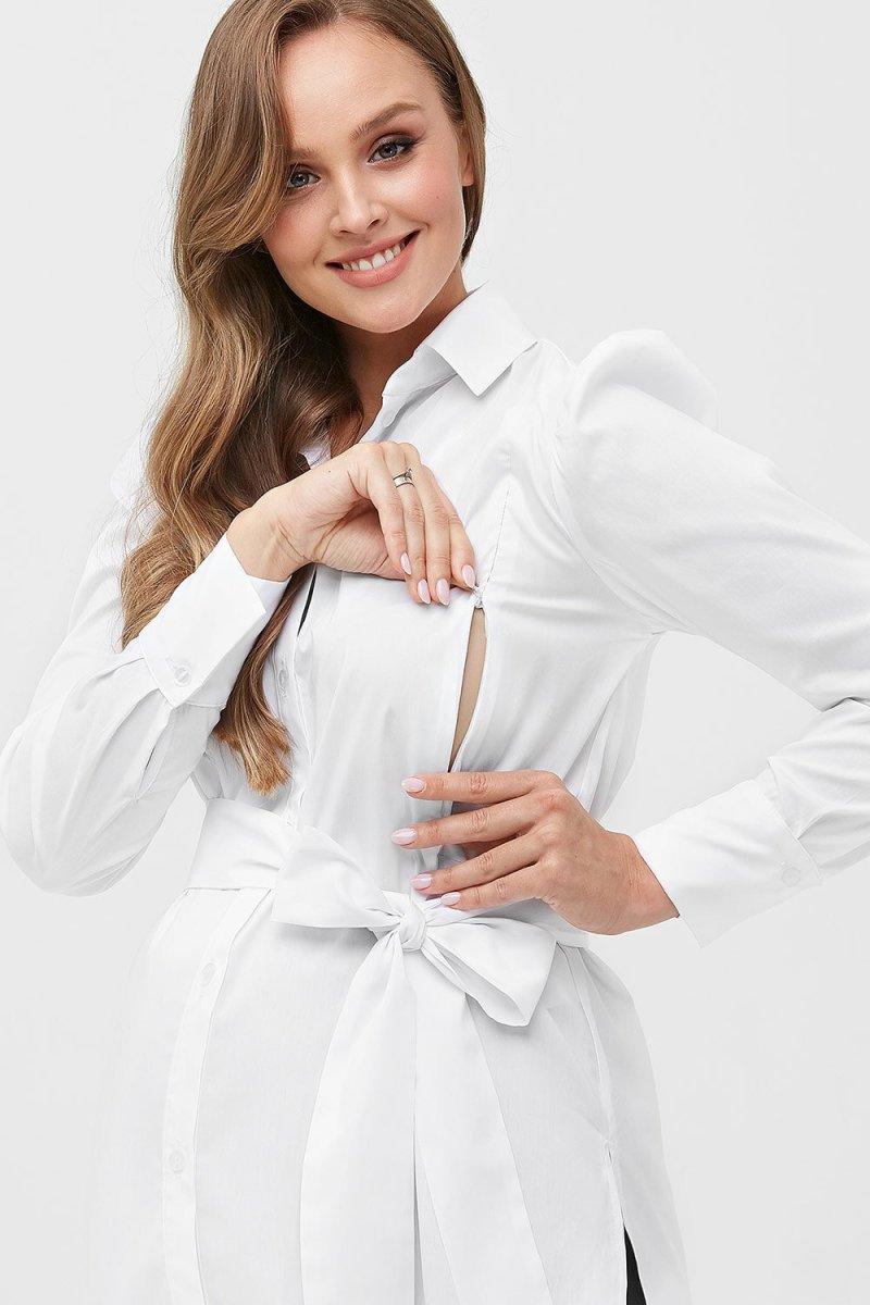 Рубашка для беременных и кормящих 2077 0173 белый