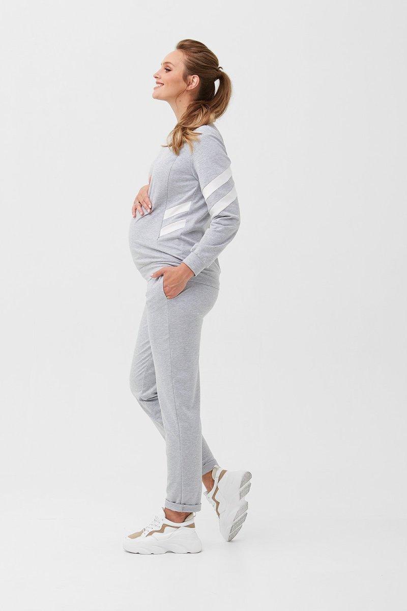 Кофта для вагітних і годуючих 2085 1360 сірий
