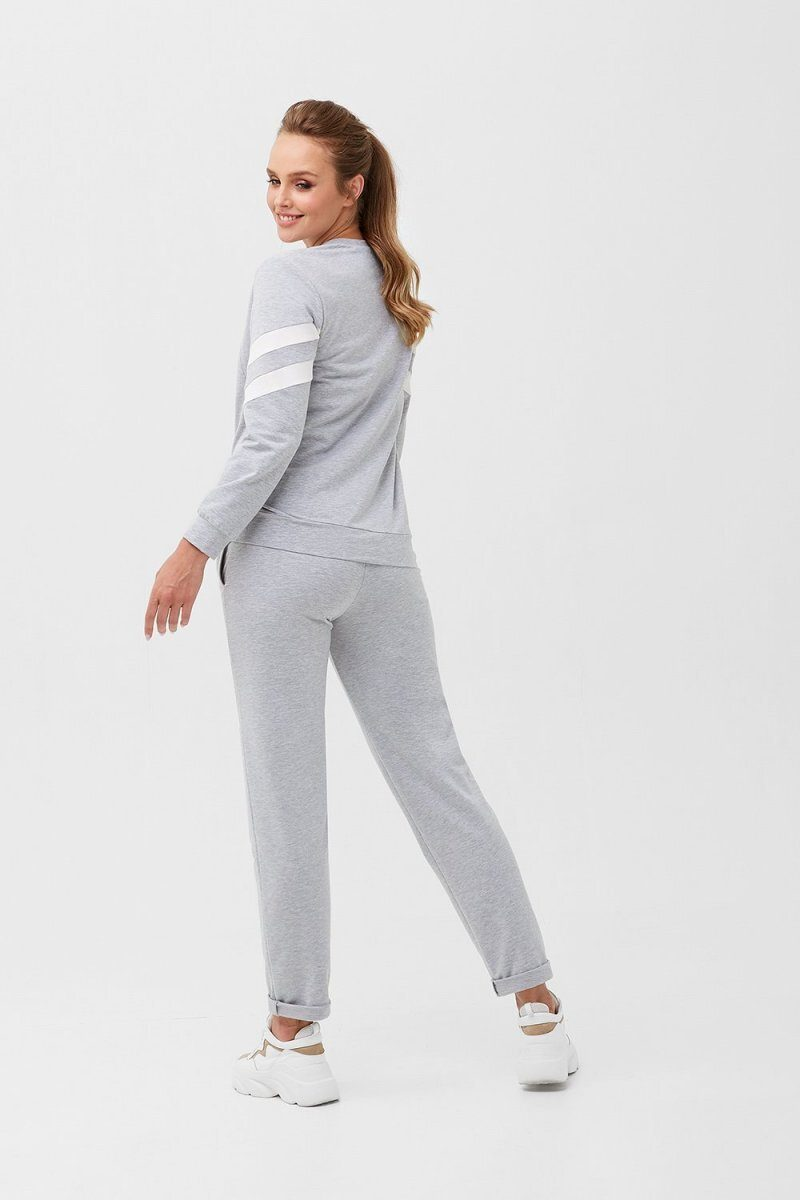 Спортивный костюм для беременных и кормящих 2085 1360 серый