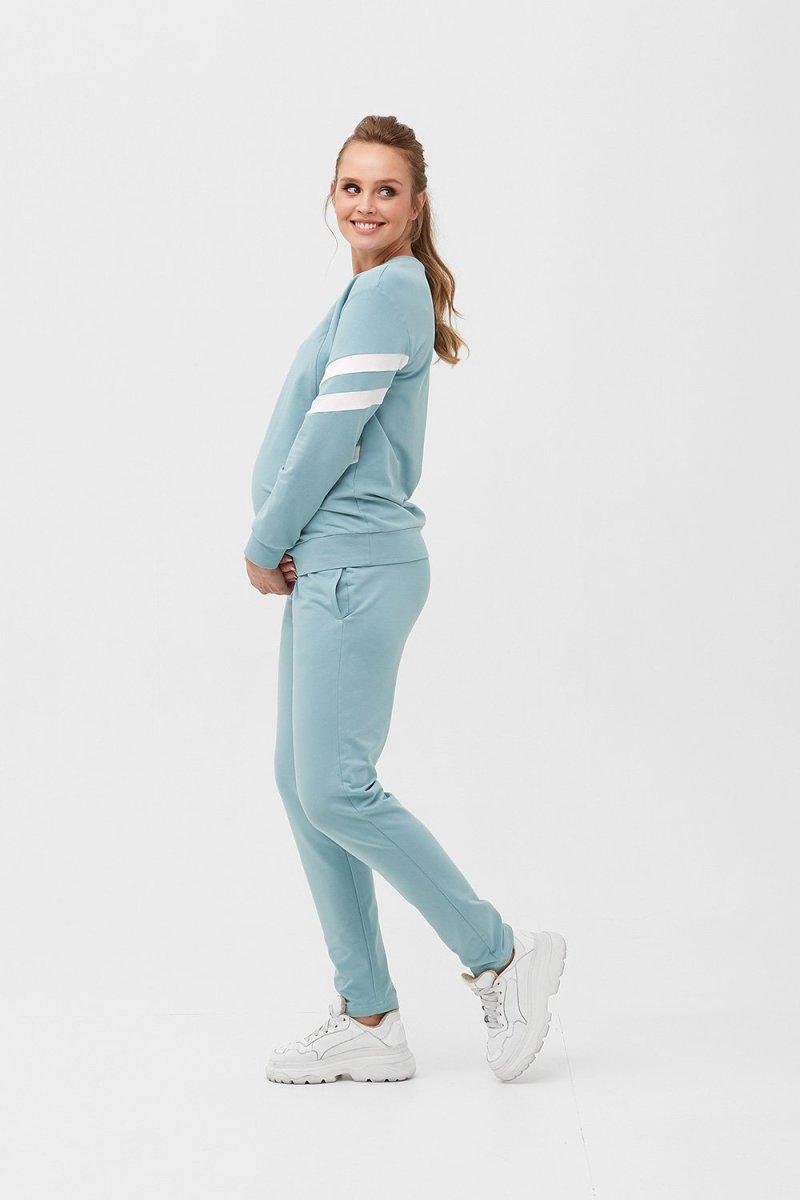 Кофта для беременных и кормящих 2085 1407 сине-зелёный