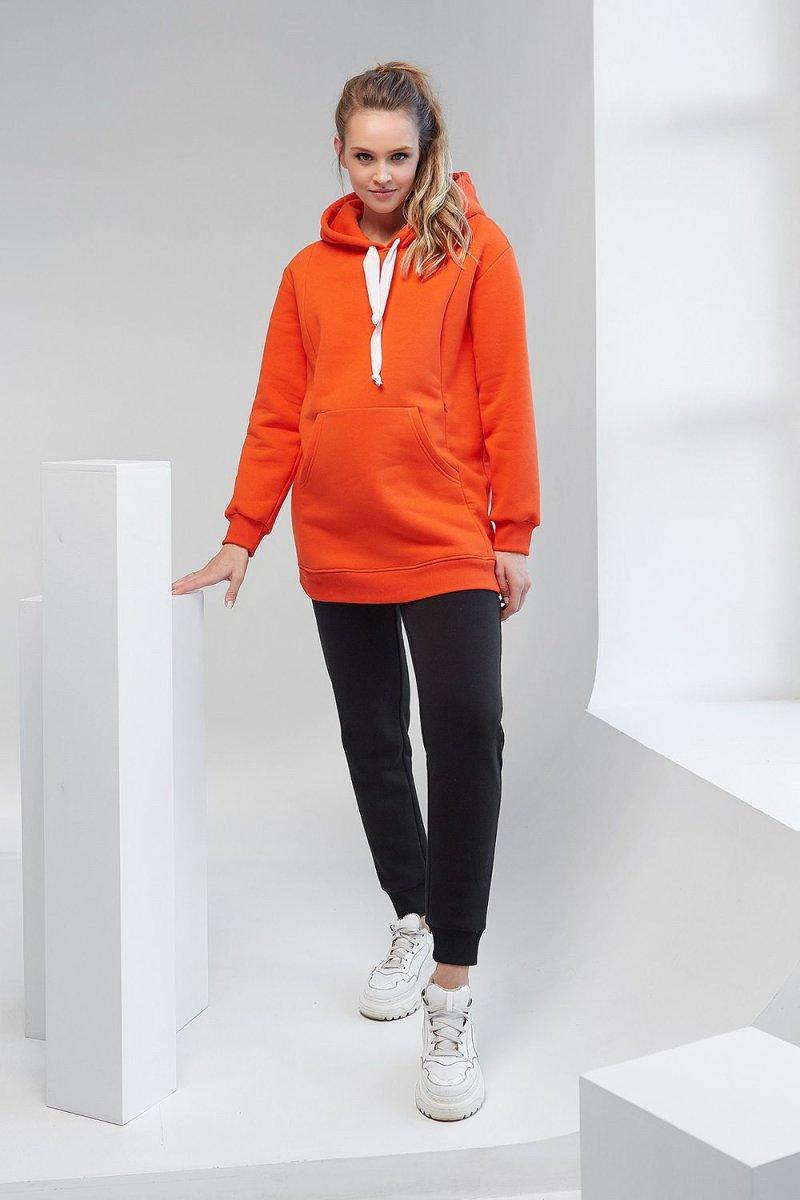 Худи с капюшоном 2105 1421 оранжевый