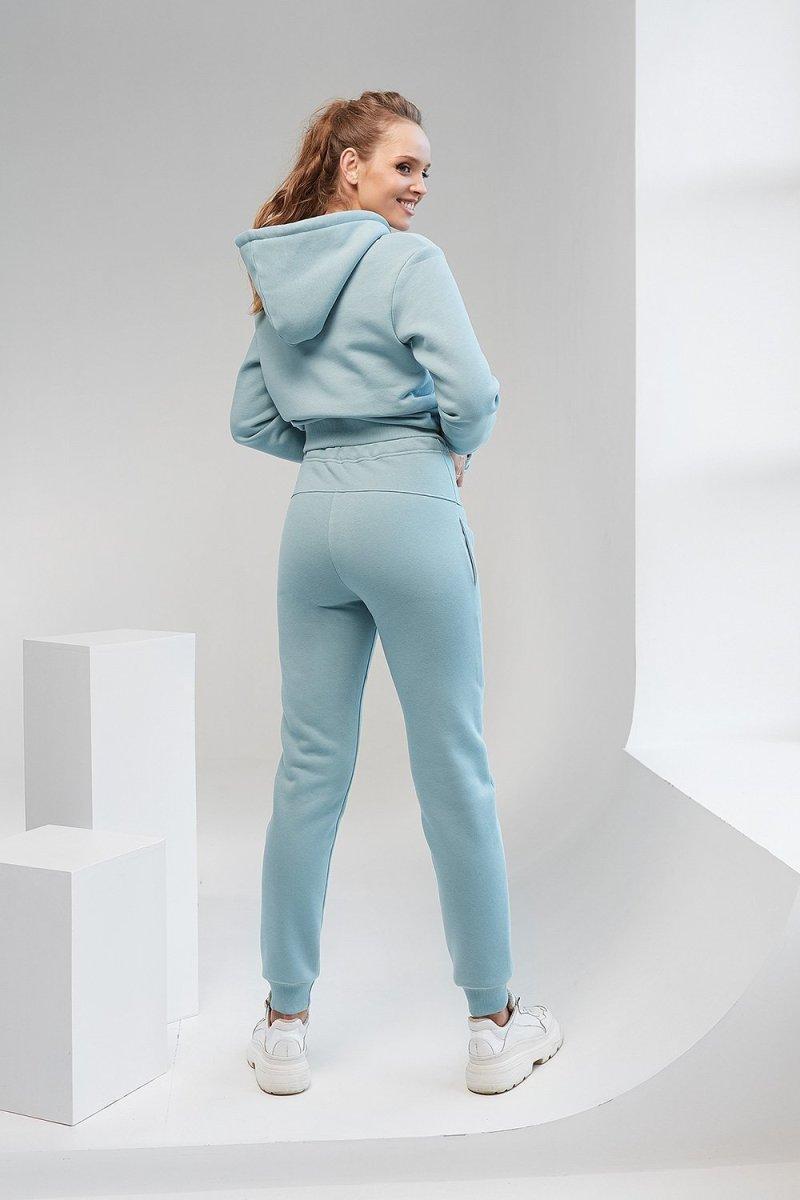 Спортивные штаны для беременных 2106 1453 сине-зелёный