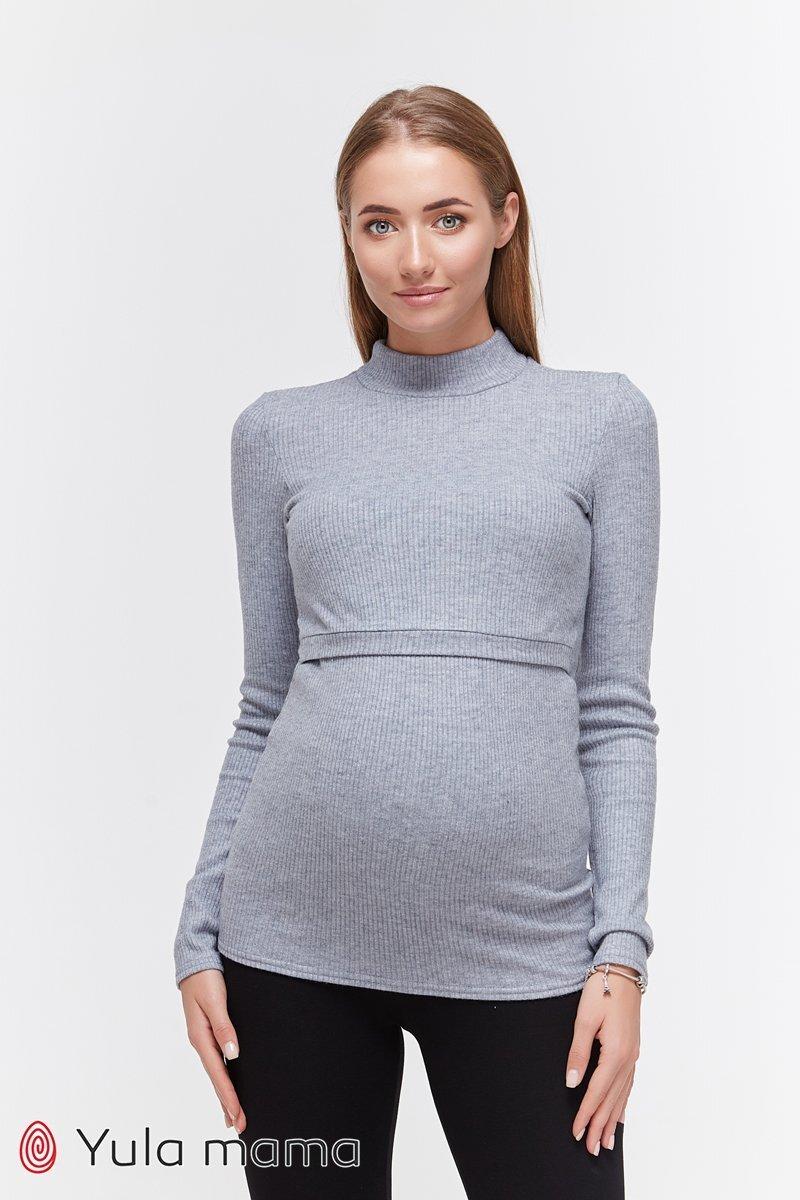Базовый гольф для беременных и кормящих Lecie warm джинс