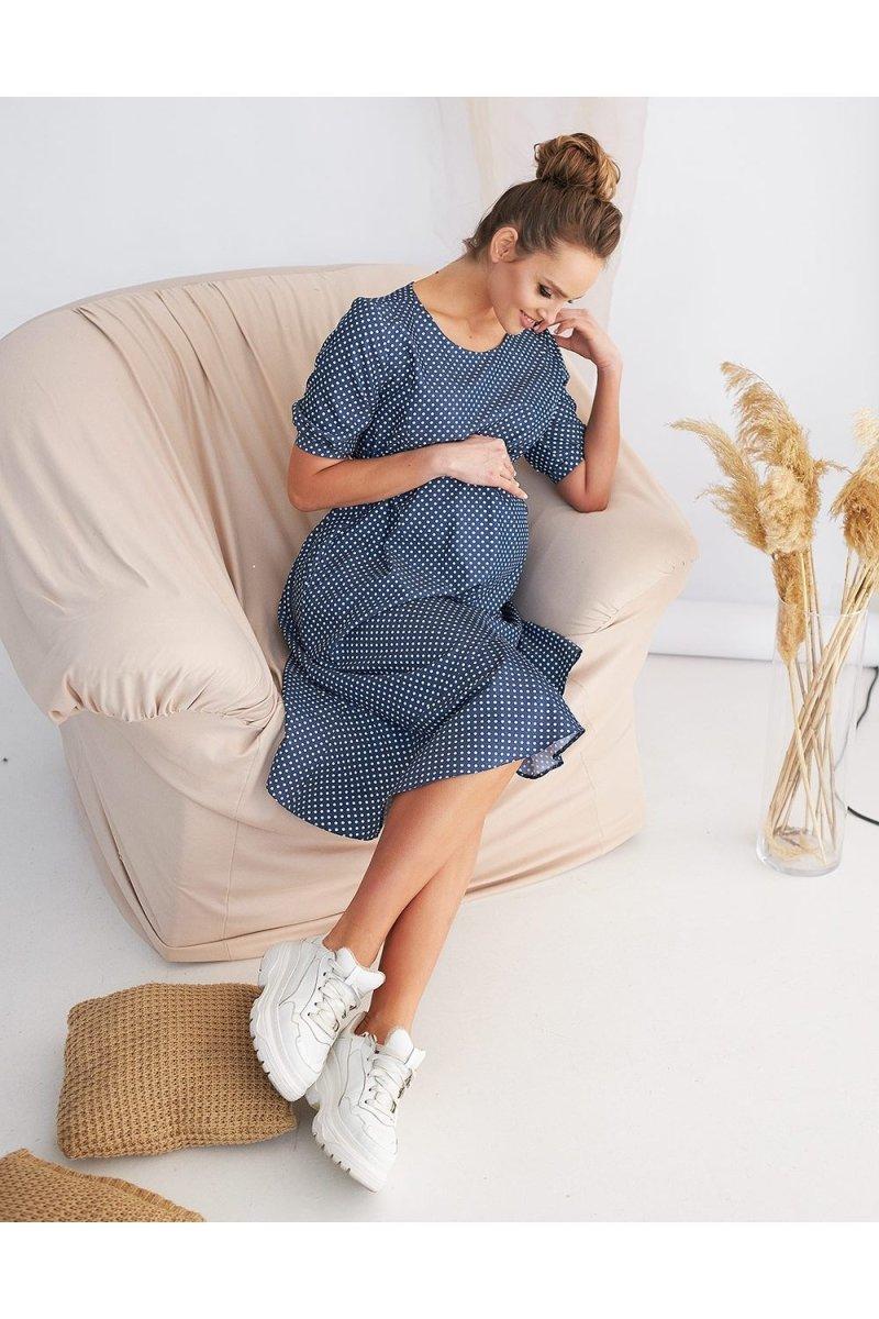 Платье в горошек 2133 1512 синий