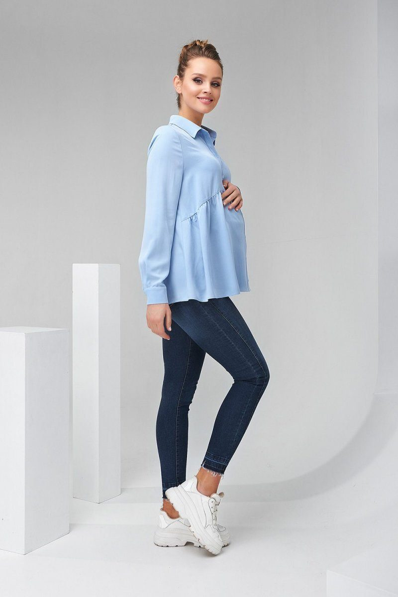 Рубашка для беременных 2138 1508 синий