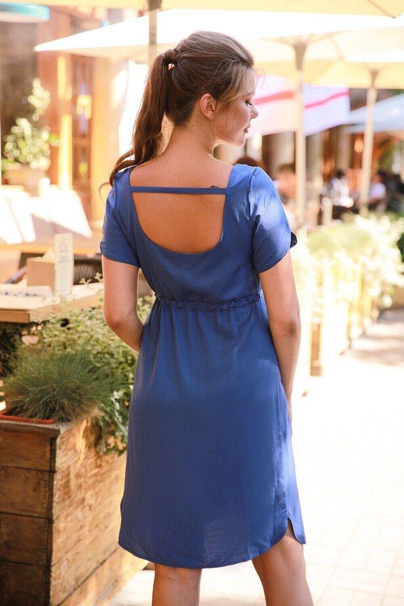 Платье для беременных и кормящих 4182616 синий