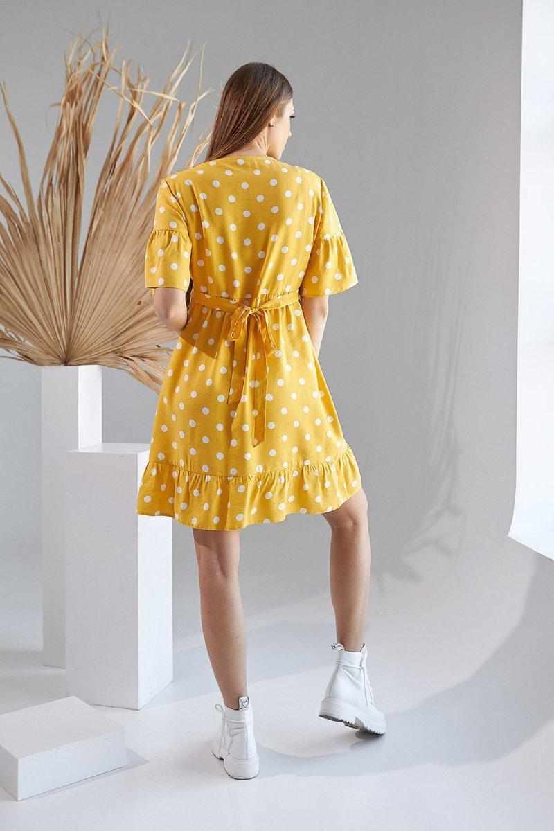 Платье для беременных и кормящих 2156 1515 желтый