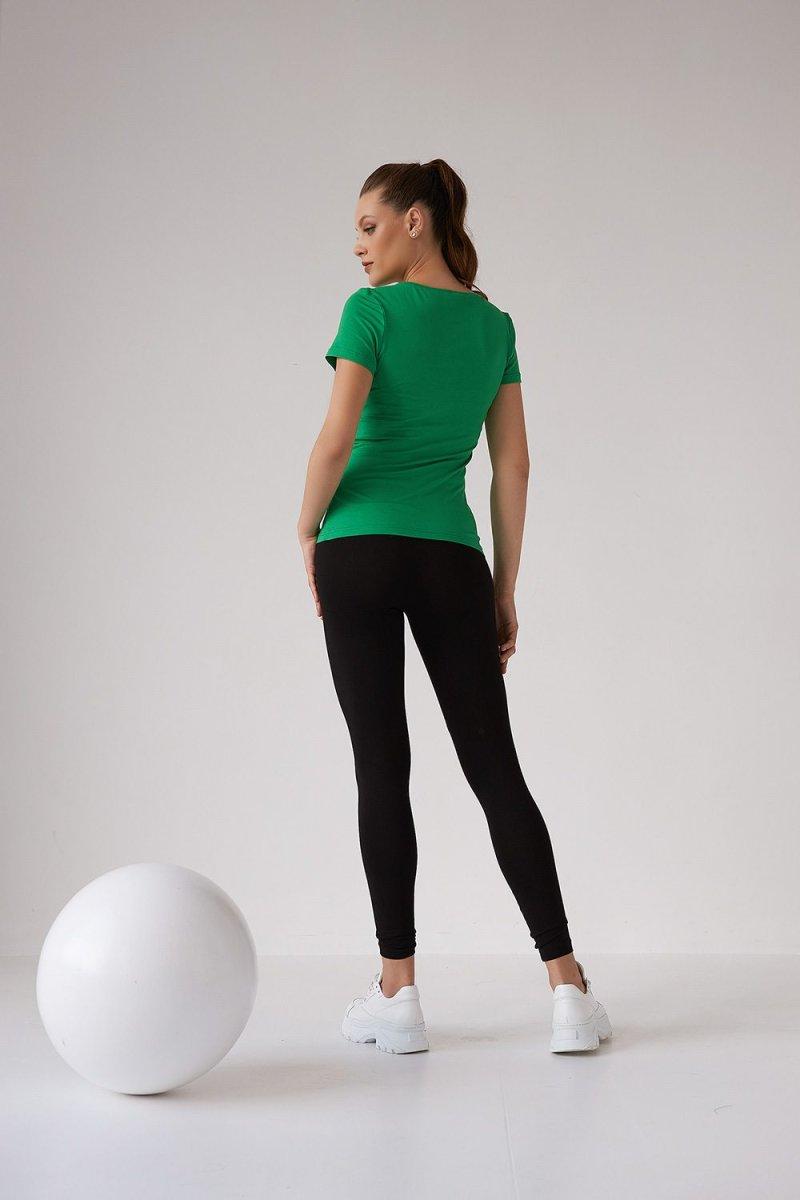 Футболка для беременных и кормящих 2167 1546 зеленый