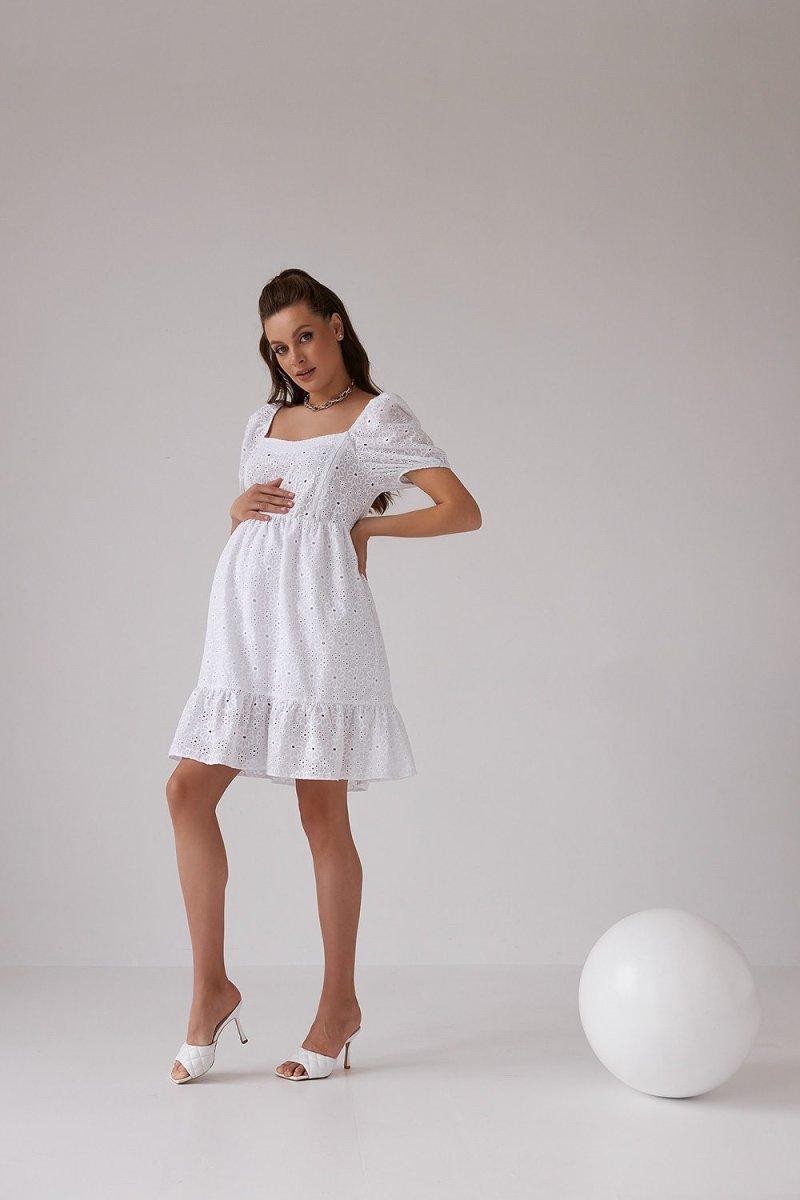 Платье для беременных и кормящих 2168 1541 белый