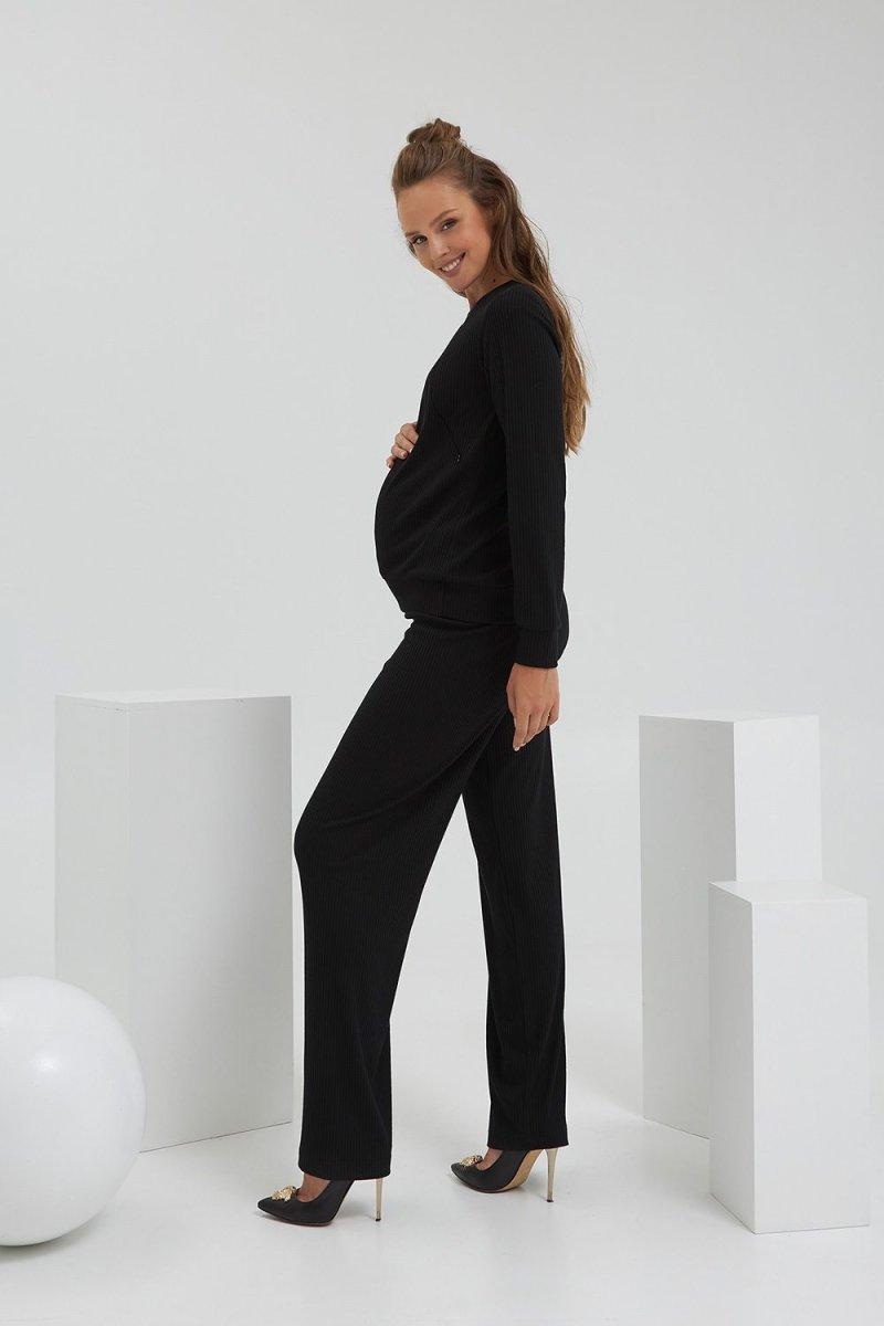 Кофта для беременных и кормящих 2186 1566 черный