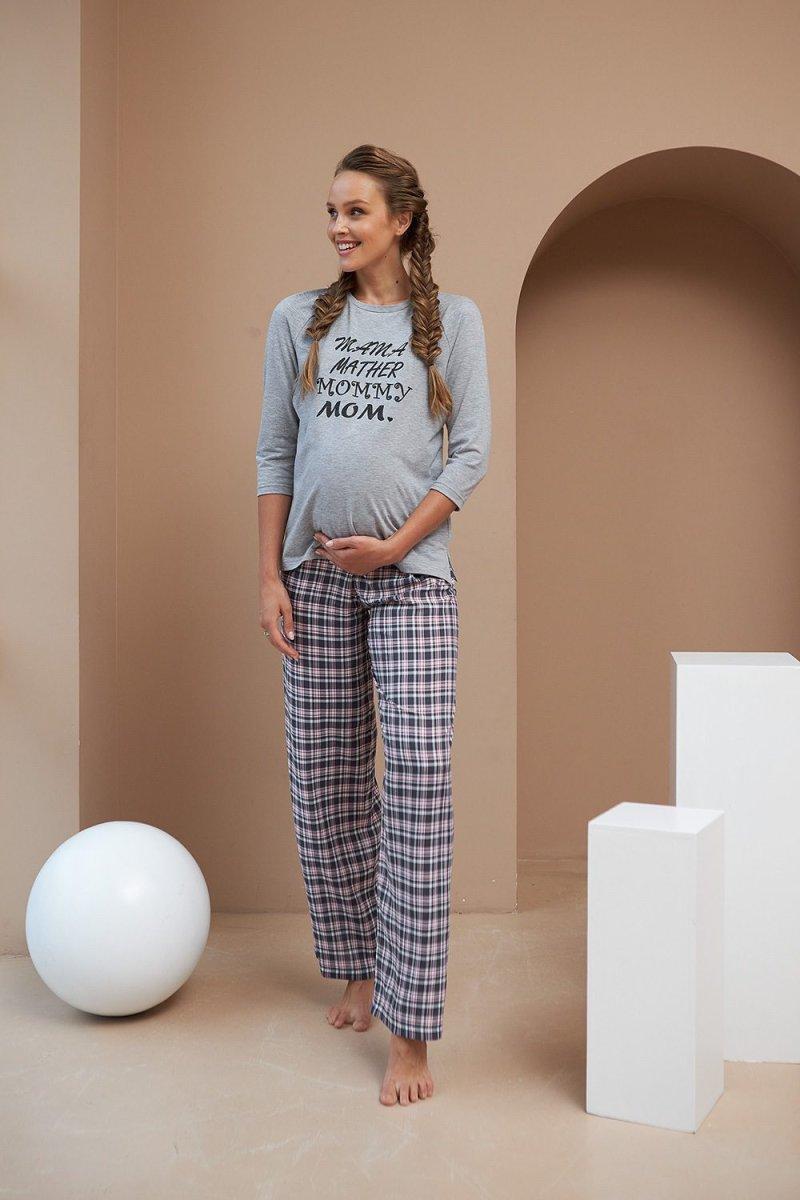 Пижама для беременных и кормящих 2190 1564 серый