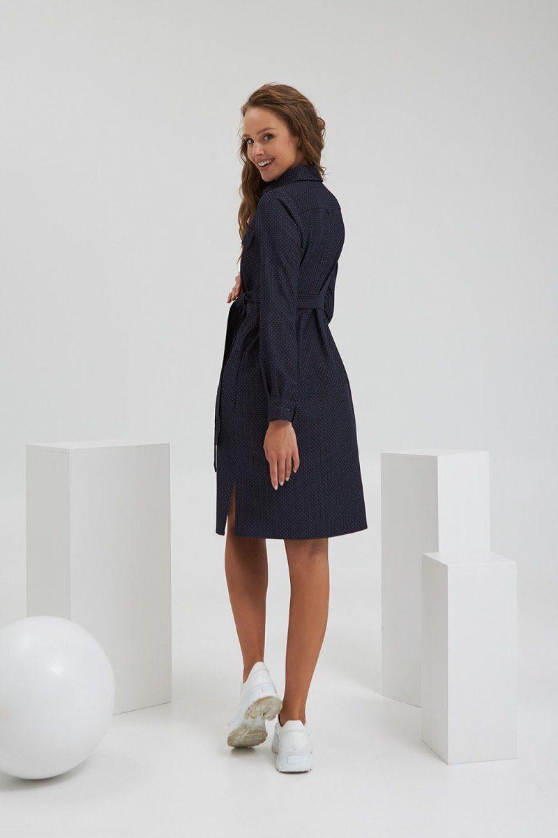 Платье для беременных и кормящих 2192 1207 темно-синий
