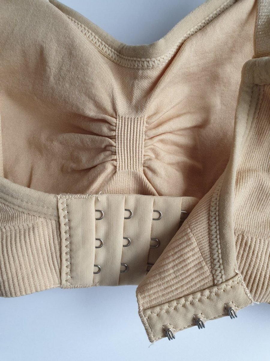 Бюстгальтер-топ из спандекса для кормления грудью (бежевый)