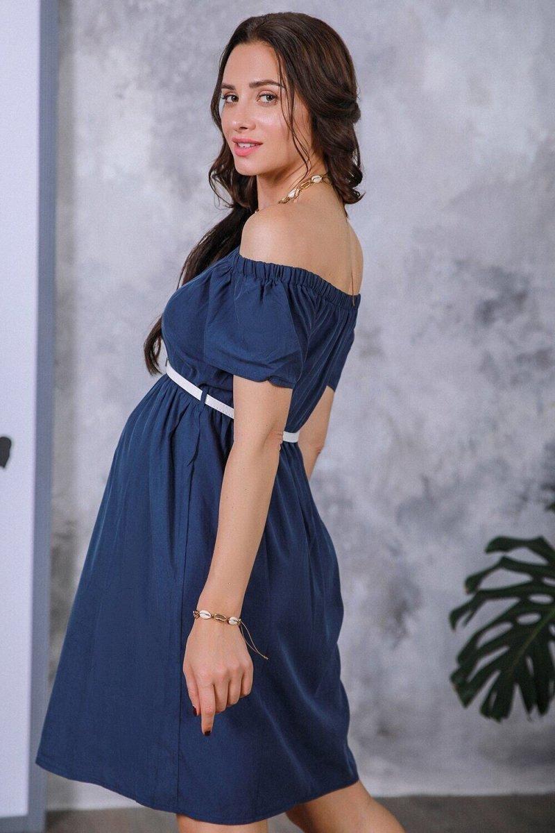 Платье для беременных 4169616 синий