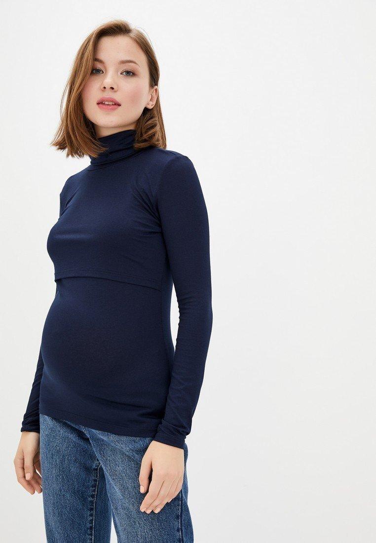 Гольф трикотажный для беременных и кормящих (темно-синий)