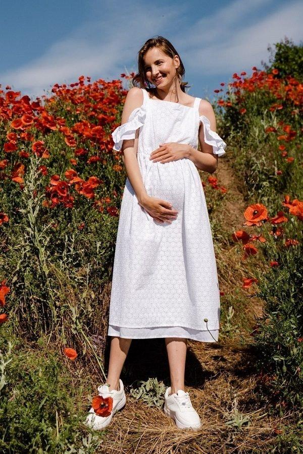 Сукня для вагітних і годуючих 2710753 біле