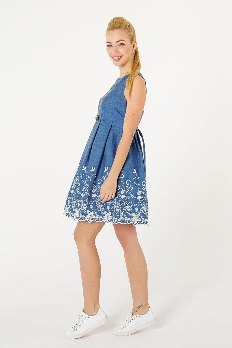 Сарафан для беременных 1321607 синий