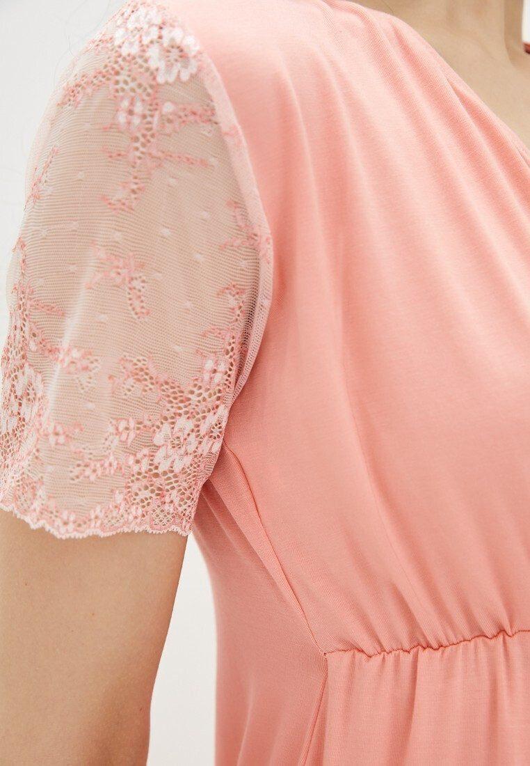 Ночная рубашка для беременных и кормящих Grace (персик)