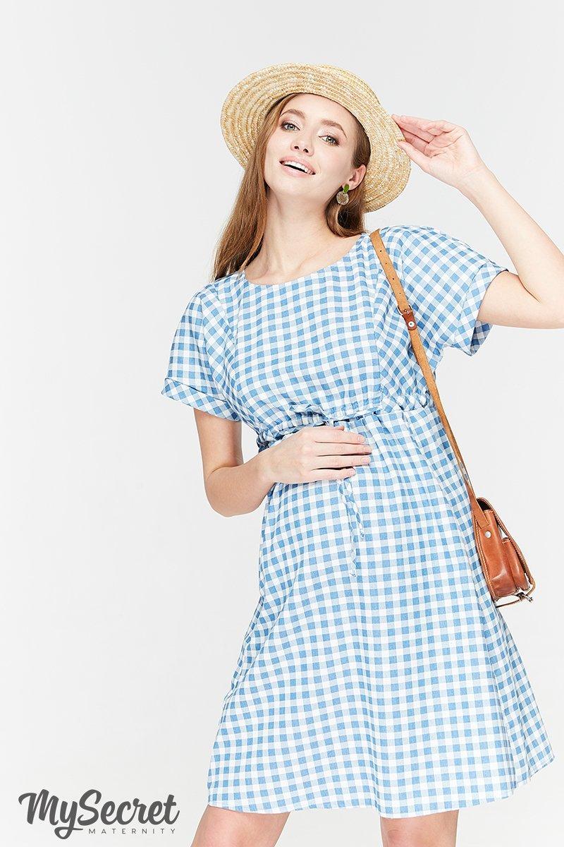 Платье для беременных и кормящих Sherry джинсово-голубой