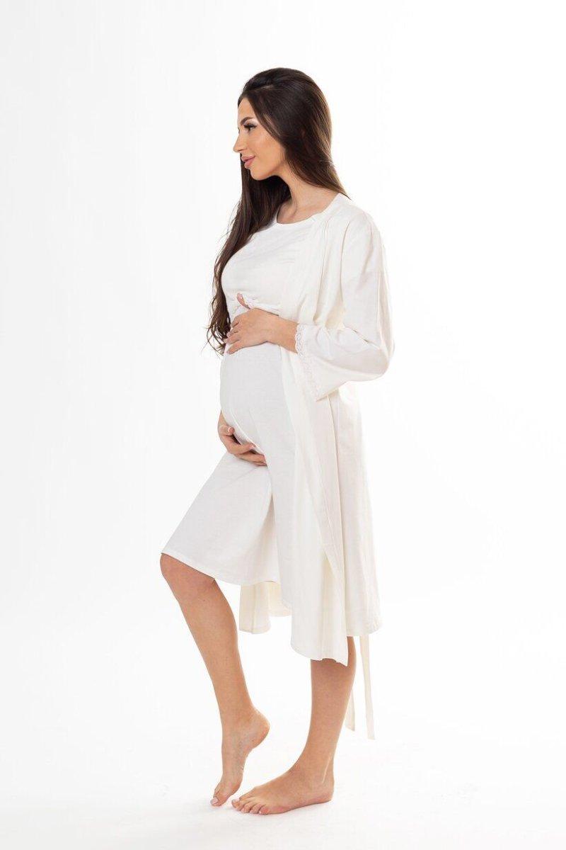 Халат для будущих мам 3057041 кремовый