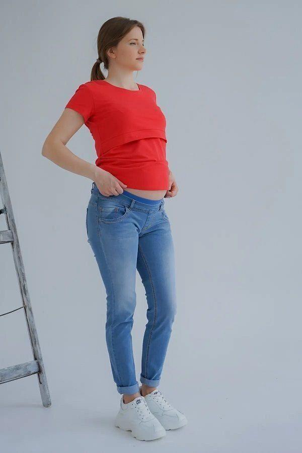 Джинсы для беременных 3069461-11 серо-голубой варка 1