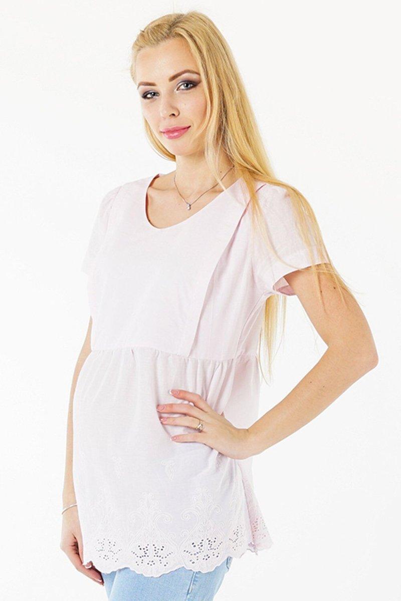 Блуза для вагітних 3093074 рожевий