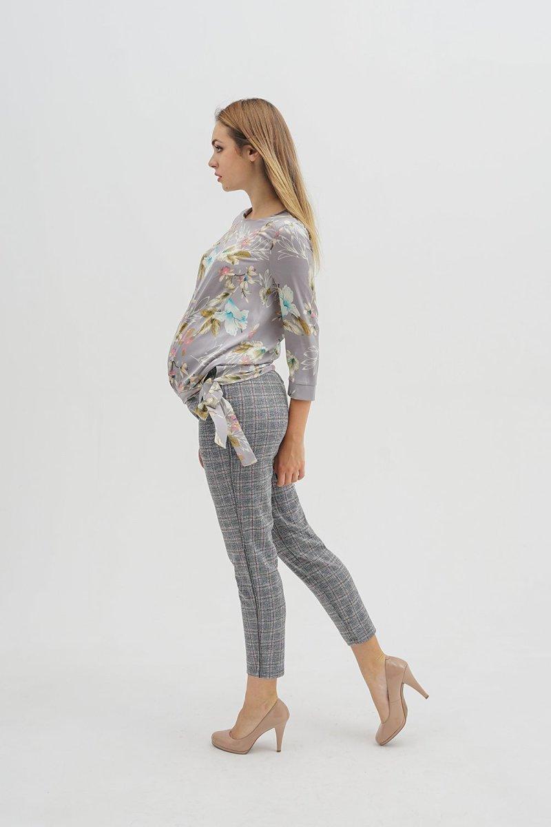 Брюки для беременных 3118257-6 серо-красный