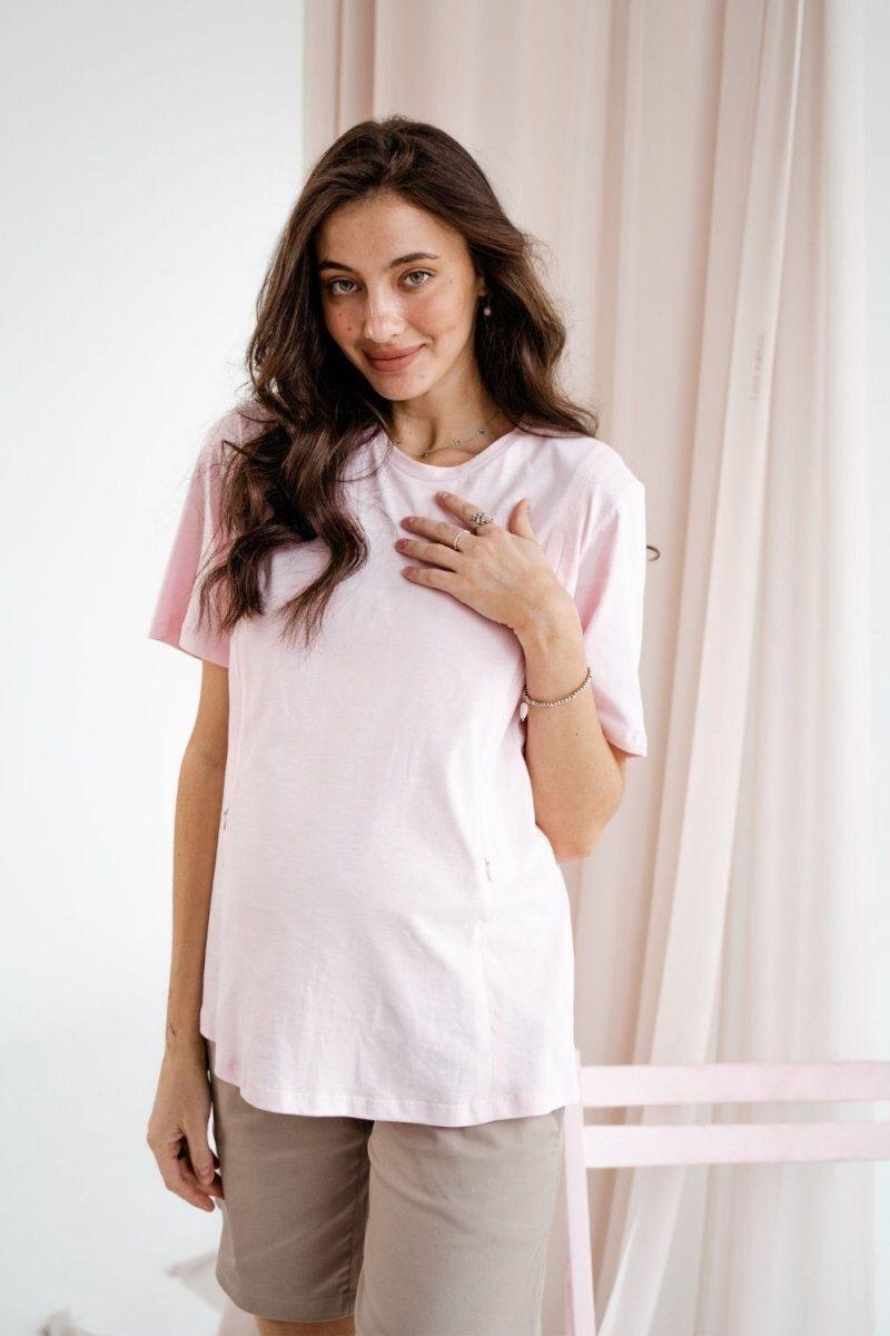 Футболка для беременных и кормящих 3170042 розовый