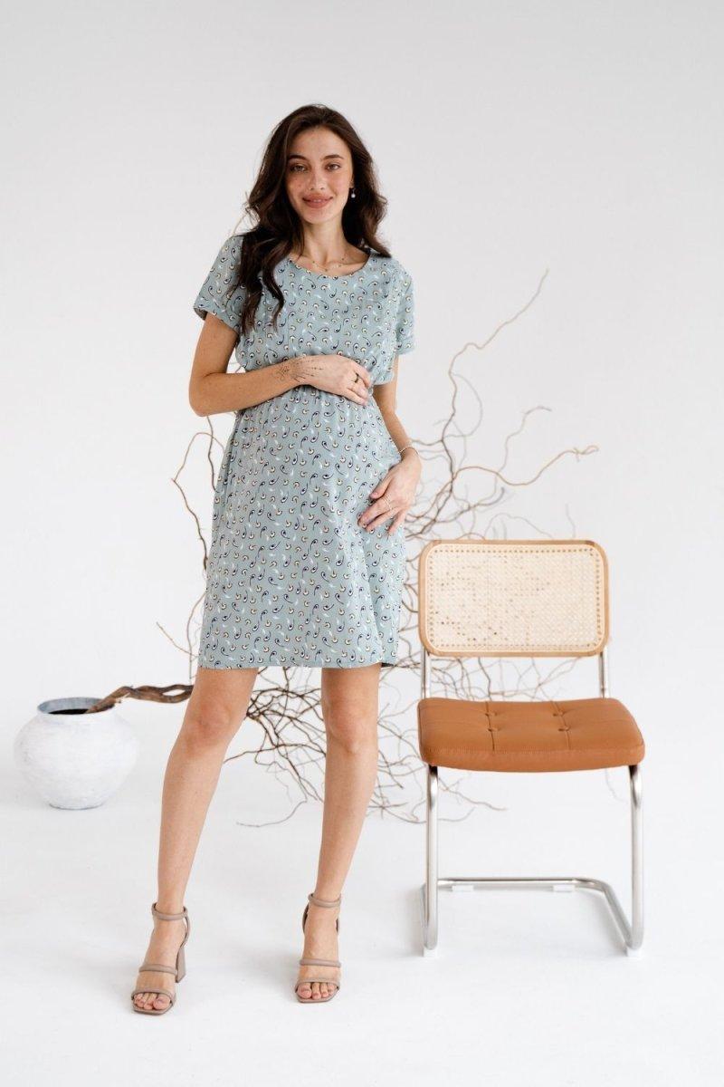 Платье для беременных и кормящих 3178745 мятный