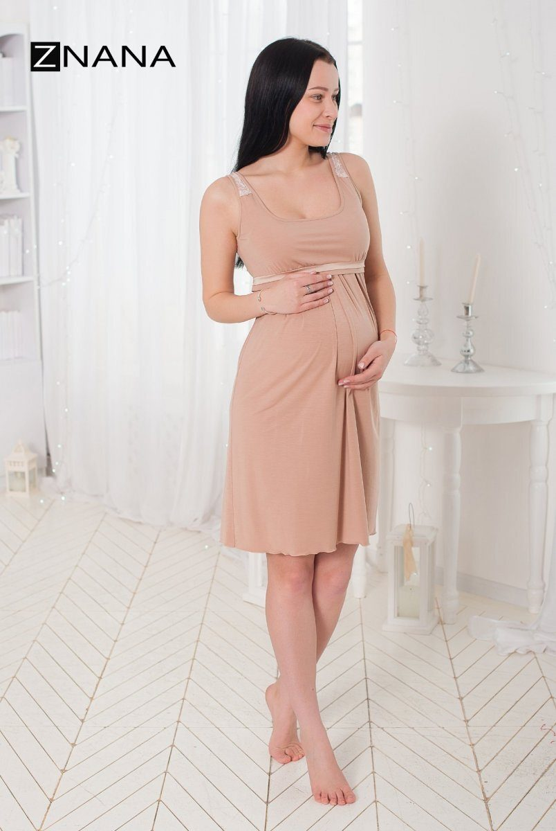 Комплект Lace светлый беж (халат + ночная рубашка)