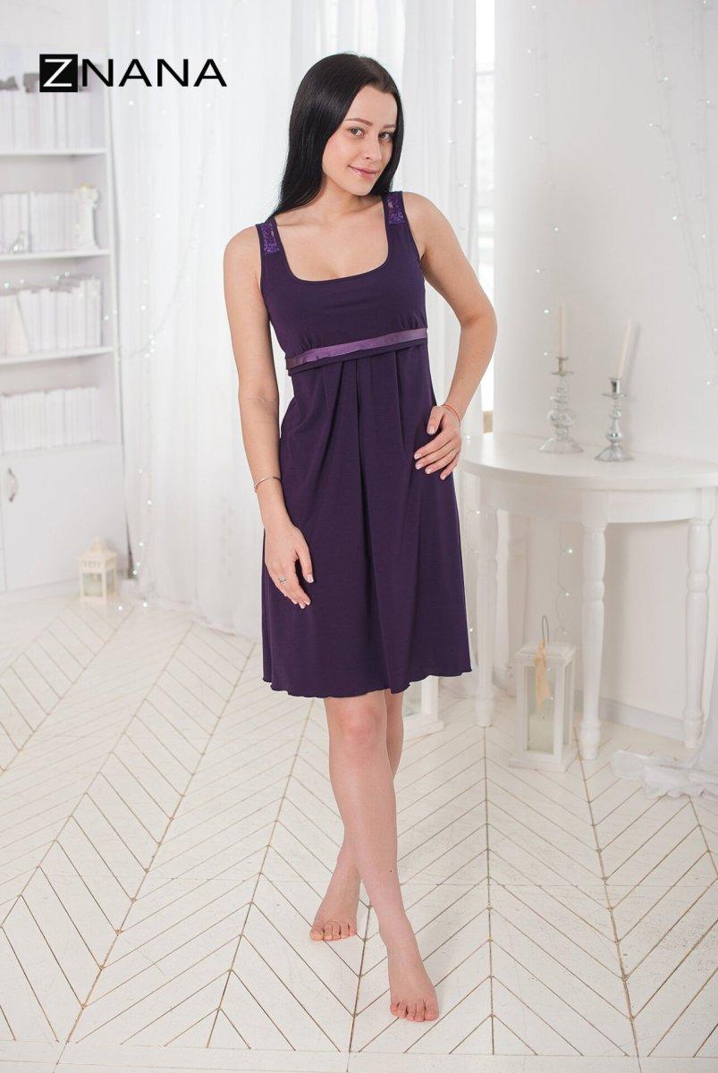 Комплект Lace баклажан (халат + ночная рубашка)