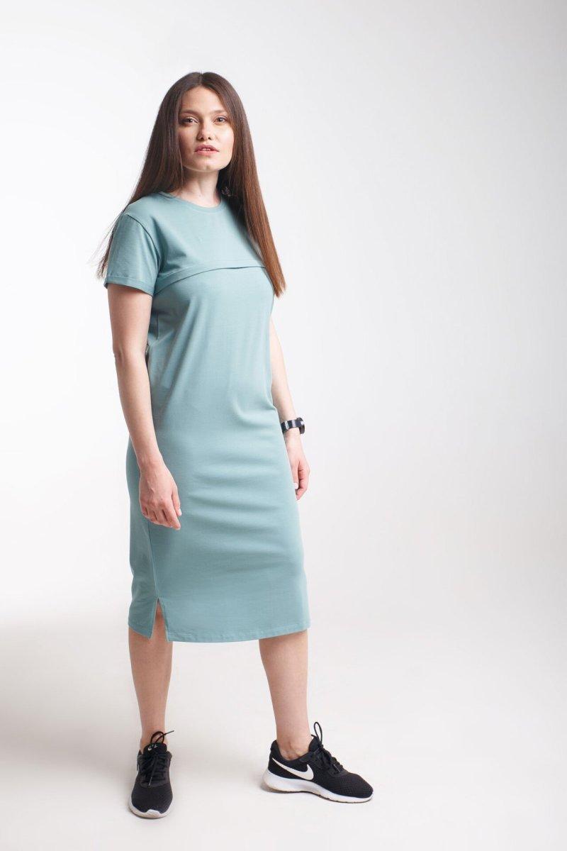 Платье Move олива для беременных и кормления