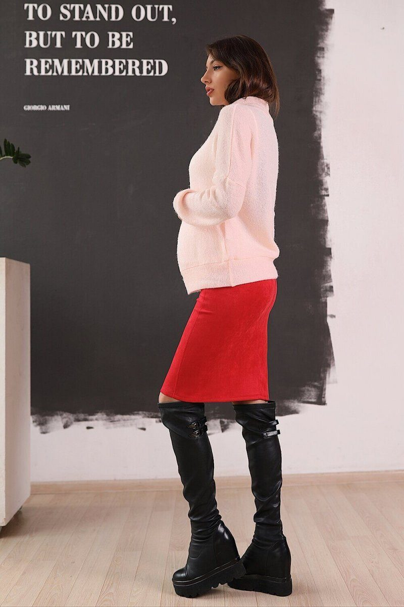 Юбка для беременных 4026701 красная