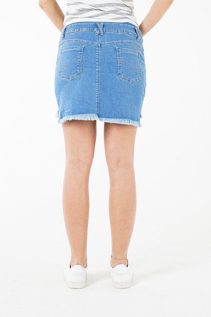 Юбка джинсовая для беременных 4064678-11 голубой варка 1
