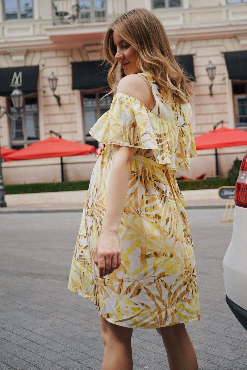 Платье для беременных 4084604 Жёлтый