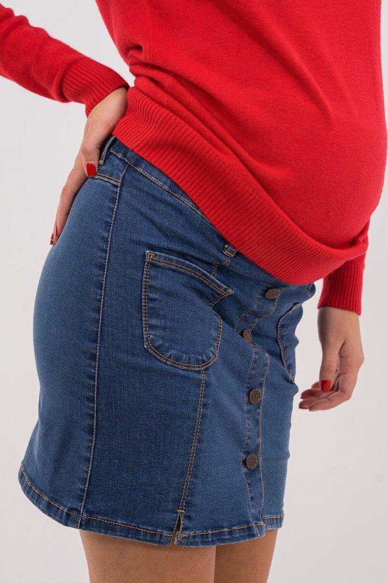 Юбка для беременных 4119998-6 синяя варка 2