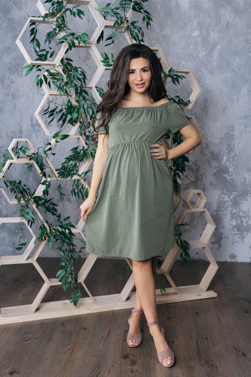 Платье для беременных 4169616 хаки