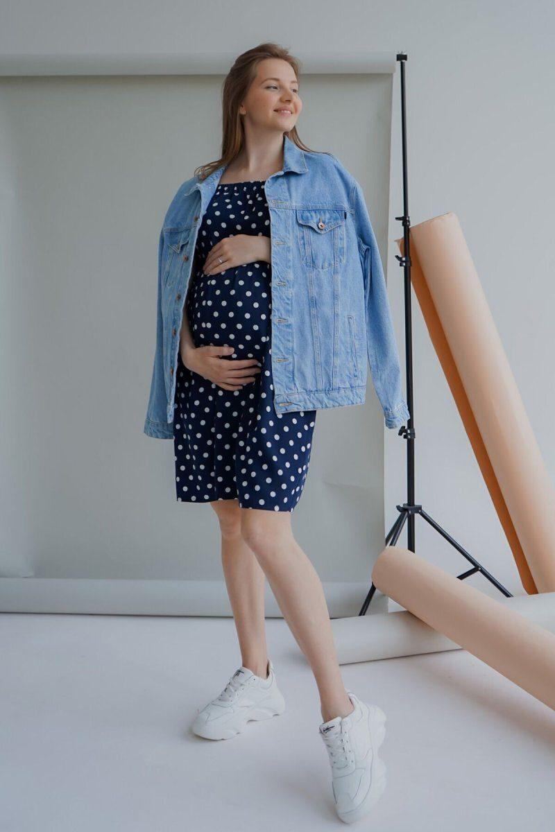 Платье для беременных 4169726 синее