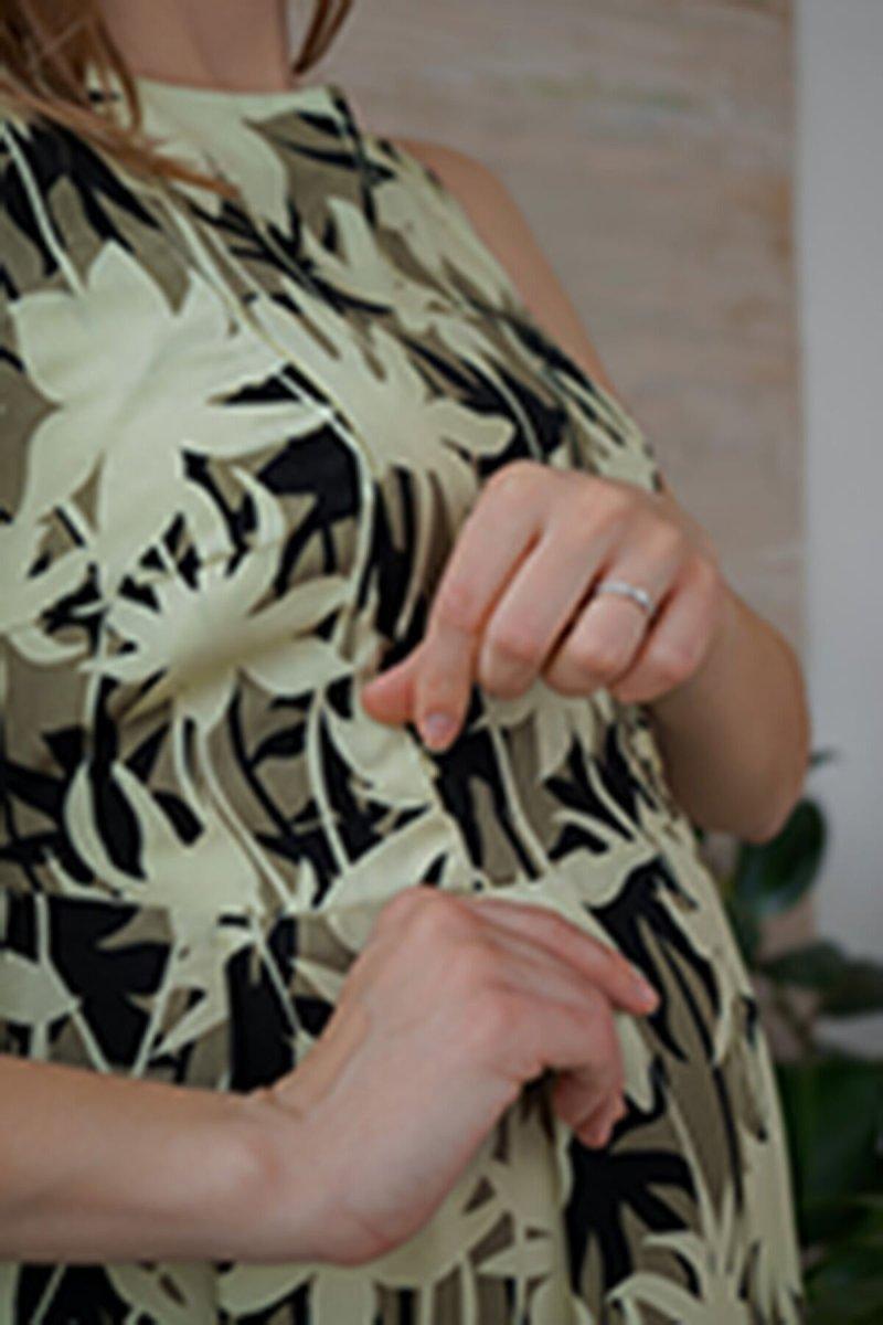 Платье для беременных и кормящих 4180604 хаки