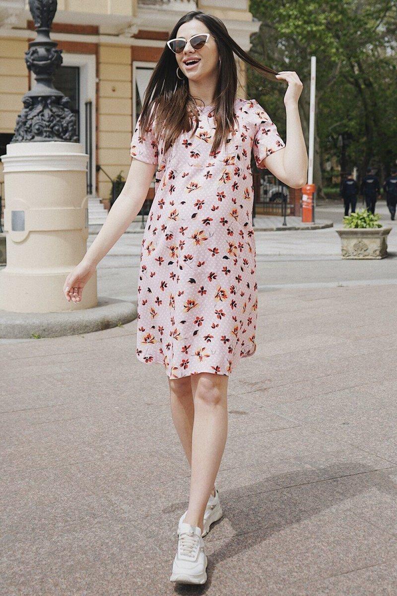 Платье для беременных и кормящих 4182604 Розовый