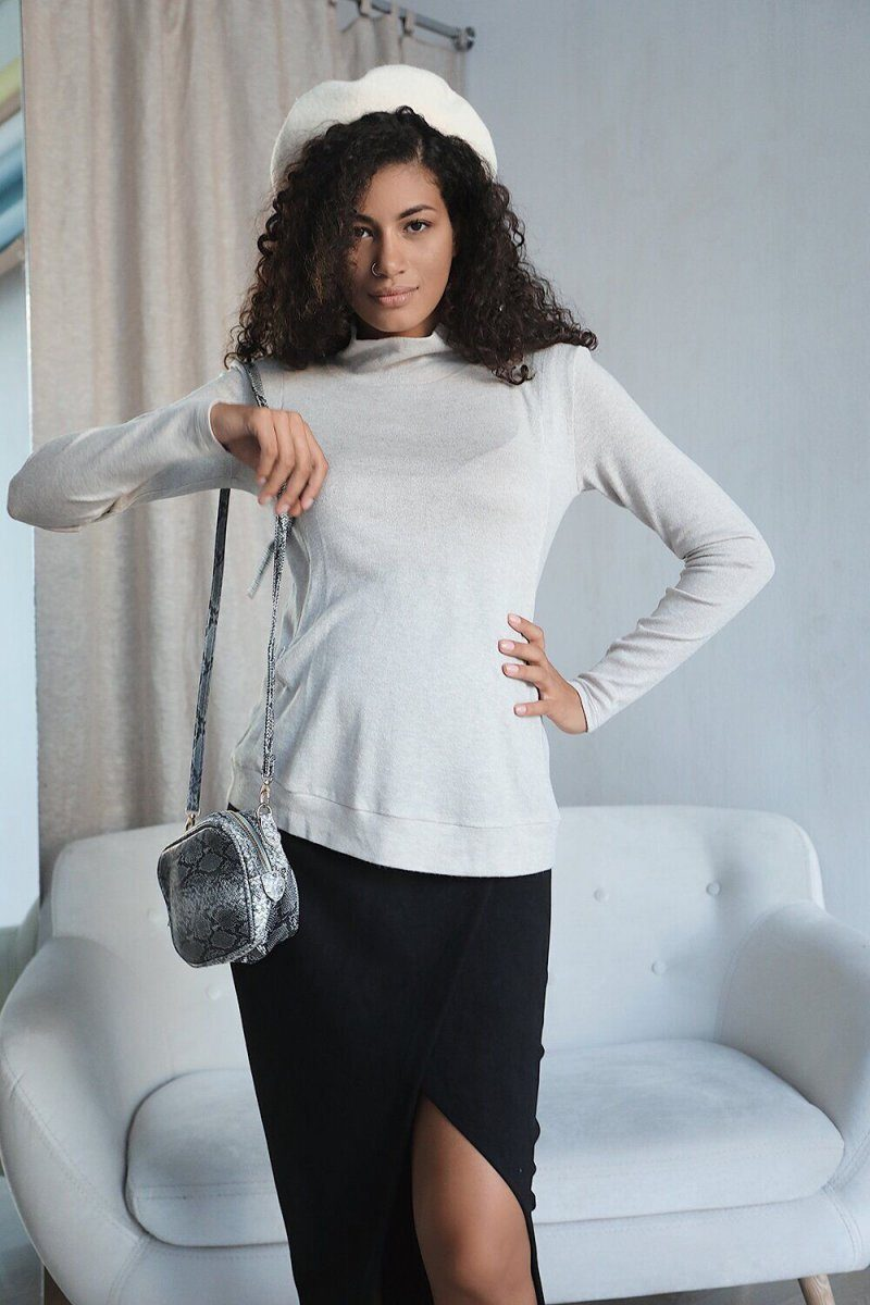 Юбка для беременных 4196701 черный янтарь