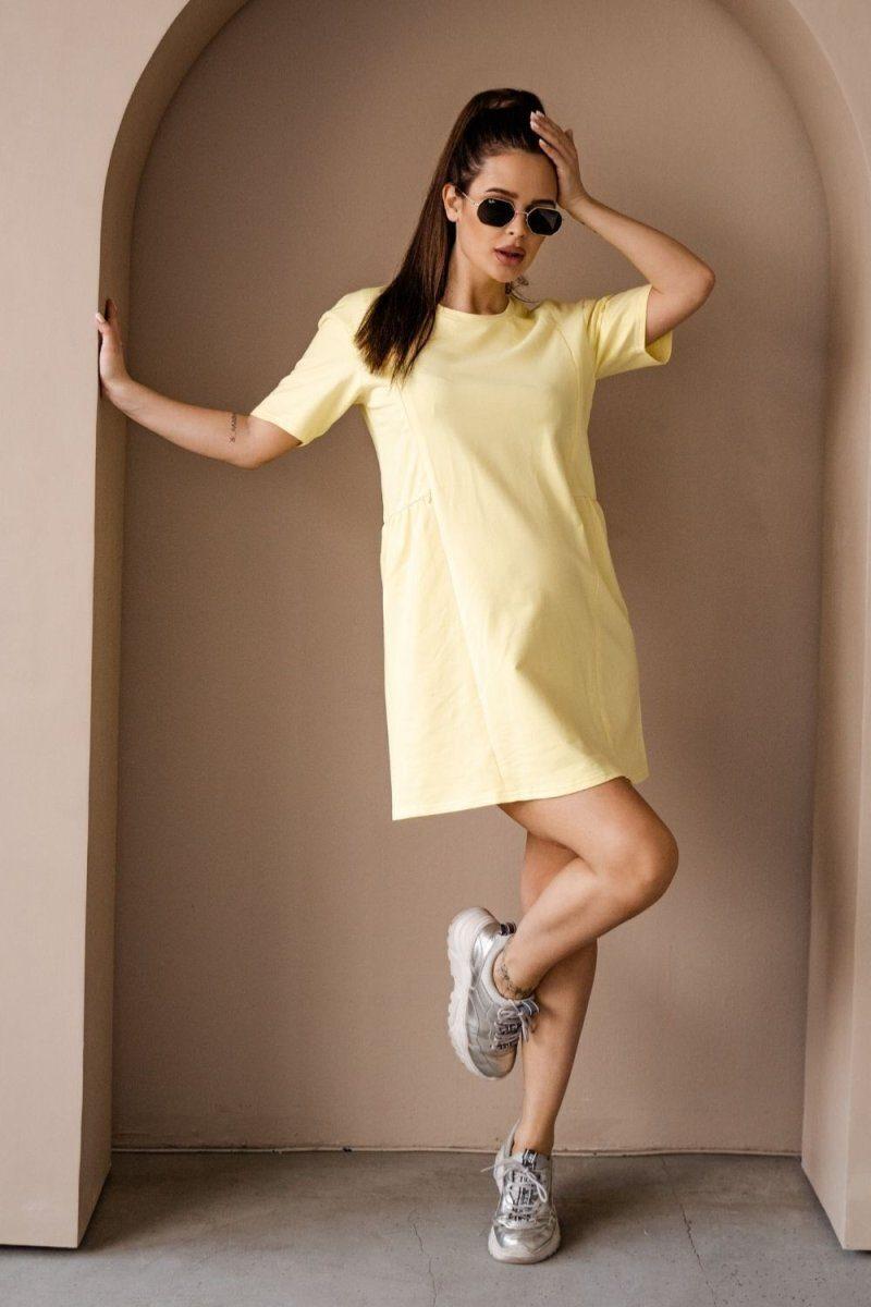 Платье для беременных и кормящих 4242262 жёлтый