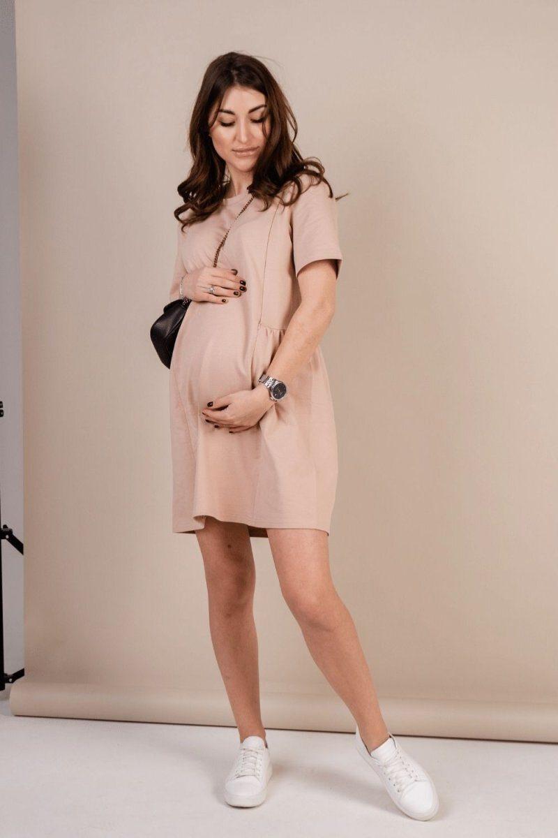 Платье для беременных и кормящих 4242262 теплый песок