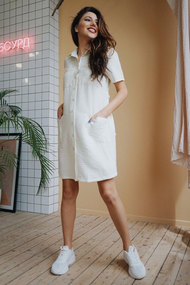 Платье для беременных 4248710 ванильный крем