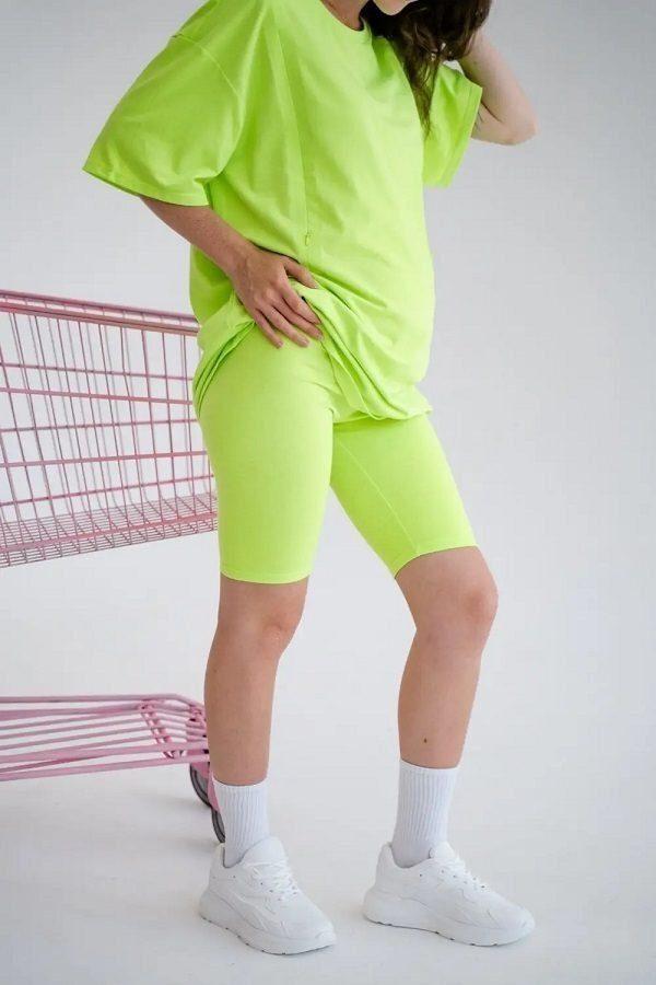 Велосипедки для беременных 4258041-1 салатовый неон